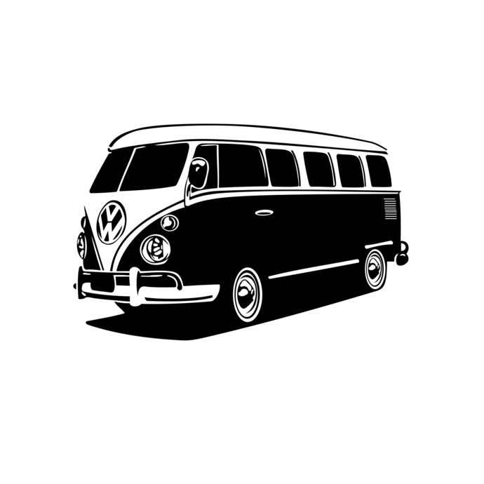 690x690 Volkswagen Bus Car Design Svg, Dxf, Eps, Png, By Vectordesign