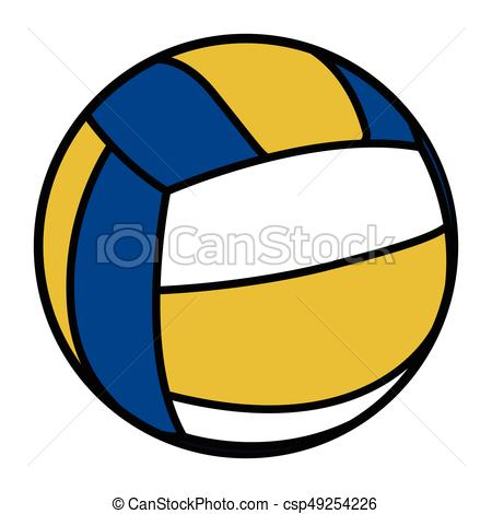 450x470 Isolated Volleyball Ball. Isolated Comic Volleyball Ball On A
