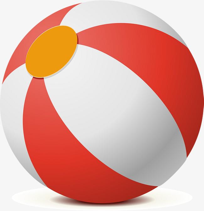 650x675 Three Dimensional Beach Volleyball Ball Vector, Beach Vector