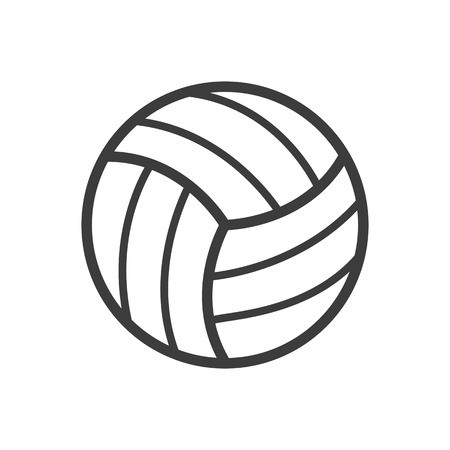 450x450 Volleyball Ball Icon. Volleyball Ball Vector Isolated On White