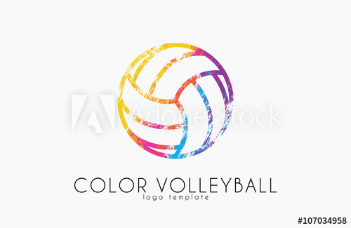 500x325 Volleyball Logo. Volleyball Ball Logo Design. Color Ball. Creative