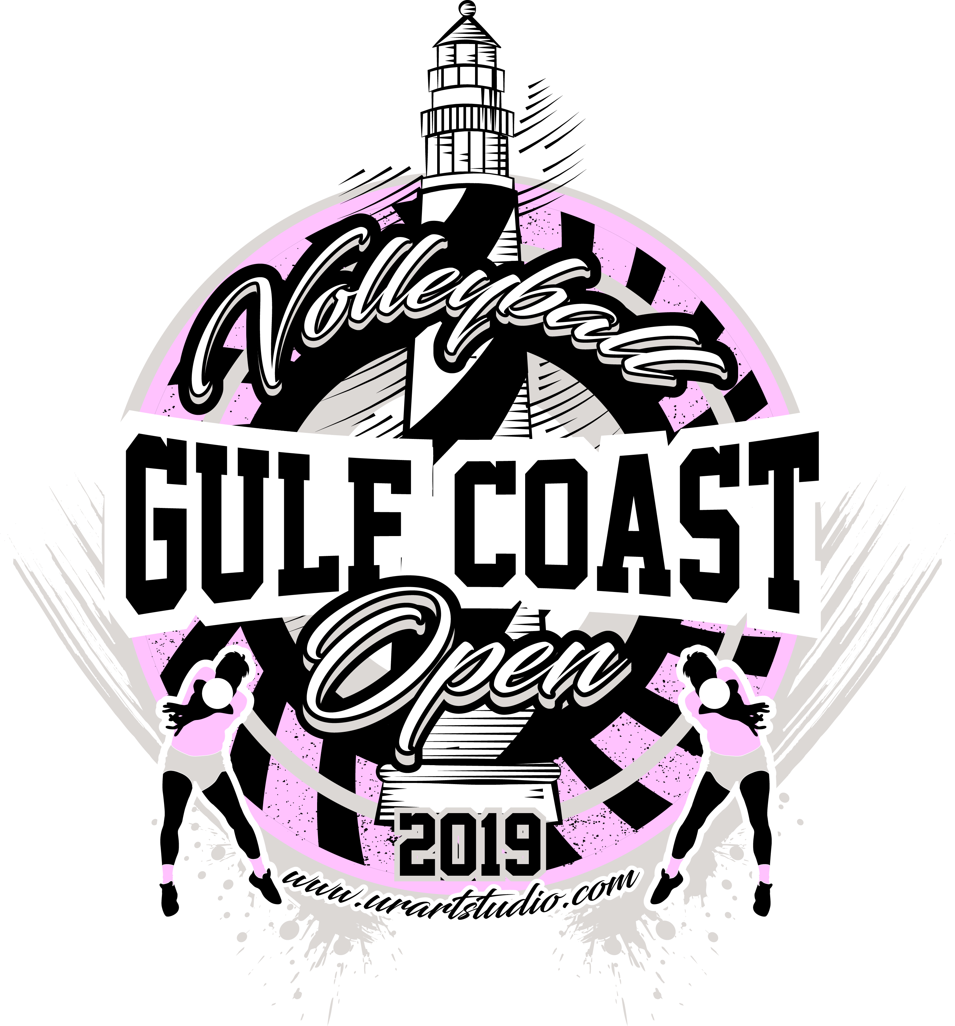 3126x3359 Volleyball Gulf Coast Open 2019 T Shirt Vector Logo Design For Print