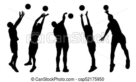 450x270 Men Volleyball Players. Illustration Of Men Volleyball Players