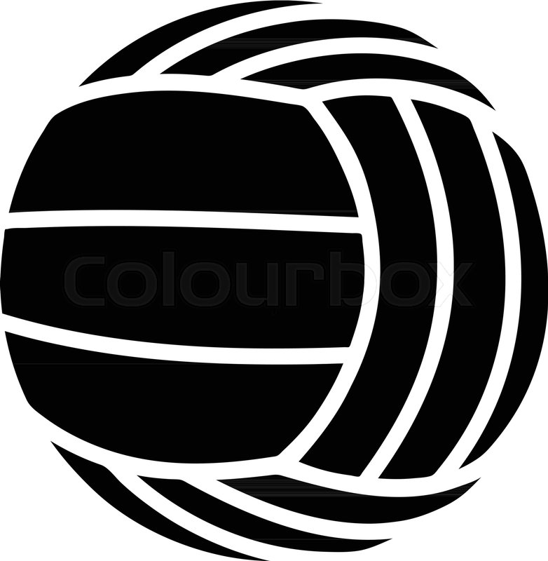 782x800 Modern Volleyball Icon. Simple Illustration Of Modern Volleyball