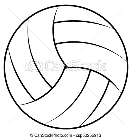 450x470 Ball For Playing Beach Volleyball, Vector Volleyball Ball Contours