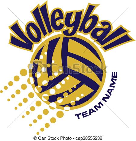 450x468 Volleyball Team Design With Ball And Dots For School, College Or