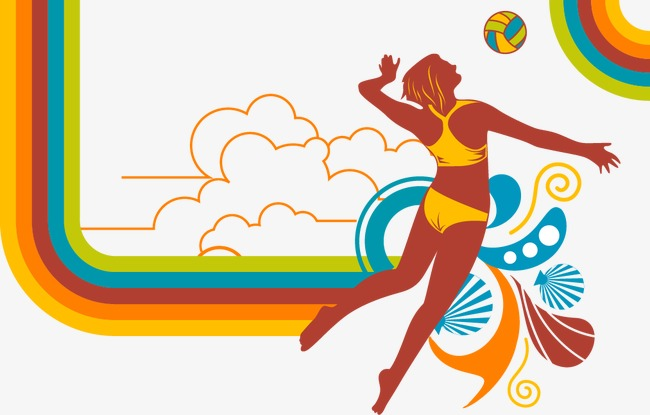 650x415 Beach Volleyball, Beach Vector, Volleyball Vector Png And Vector