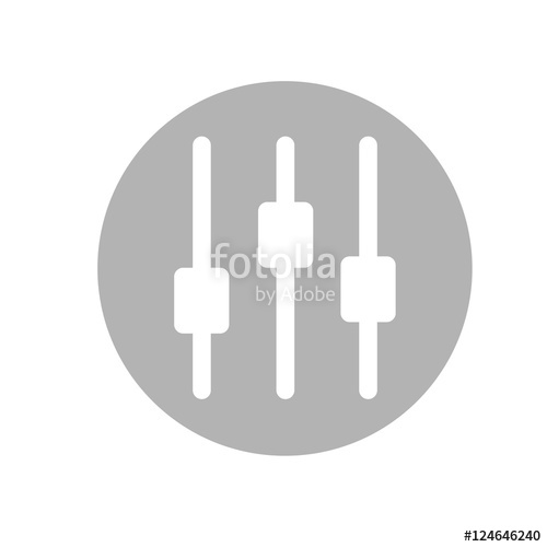 500x500 Vector Illustration Of Music Equalizer. Music Volume Icon Flat