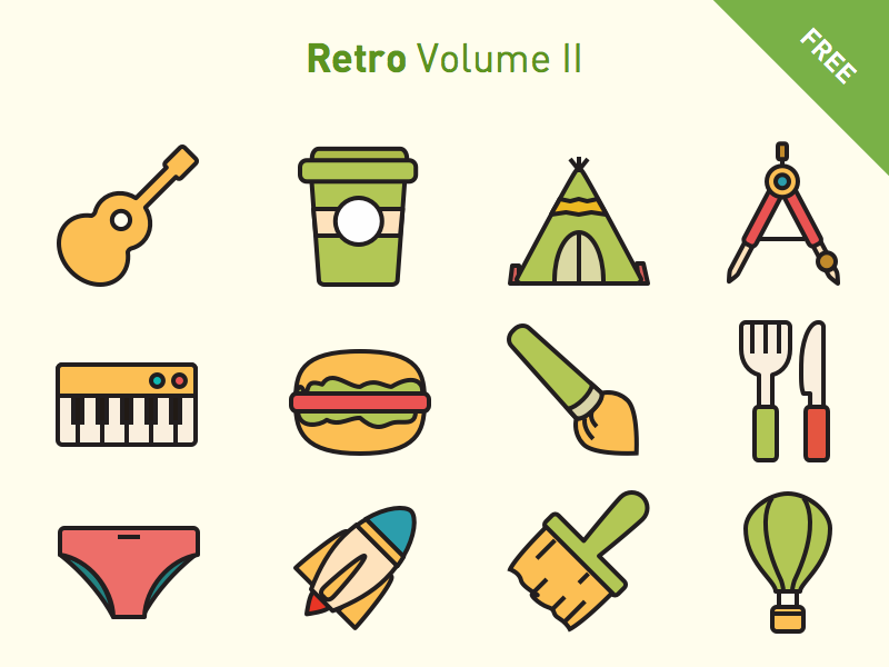 800x600 Free Vector Icons Retro Volume 2 By Frexy