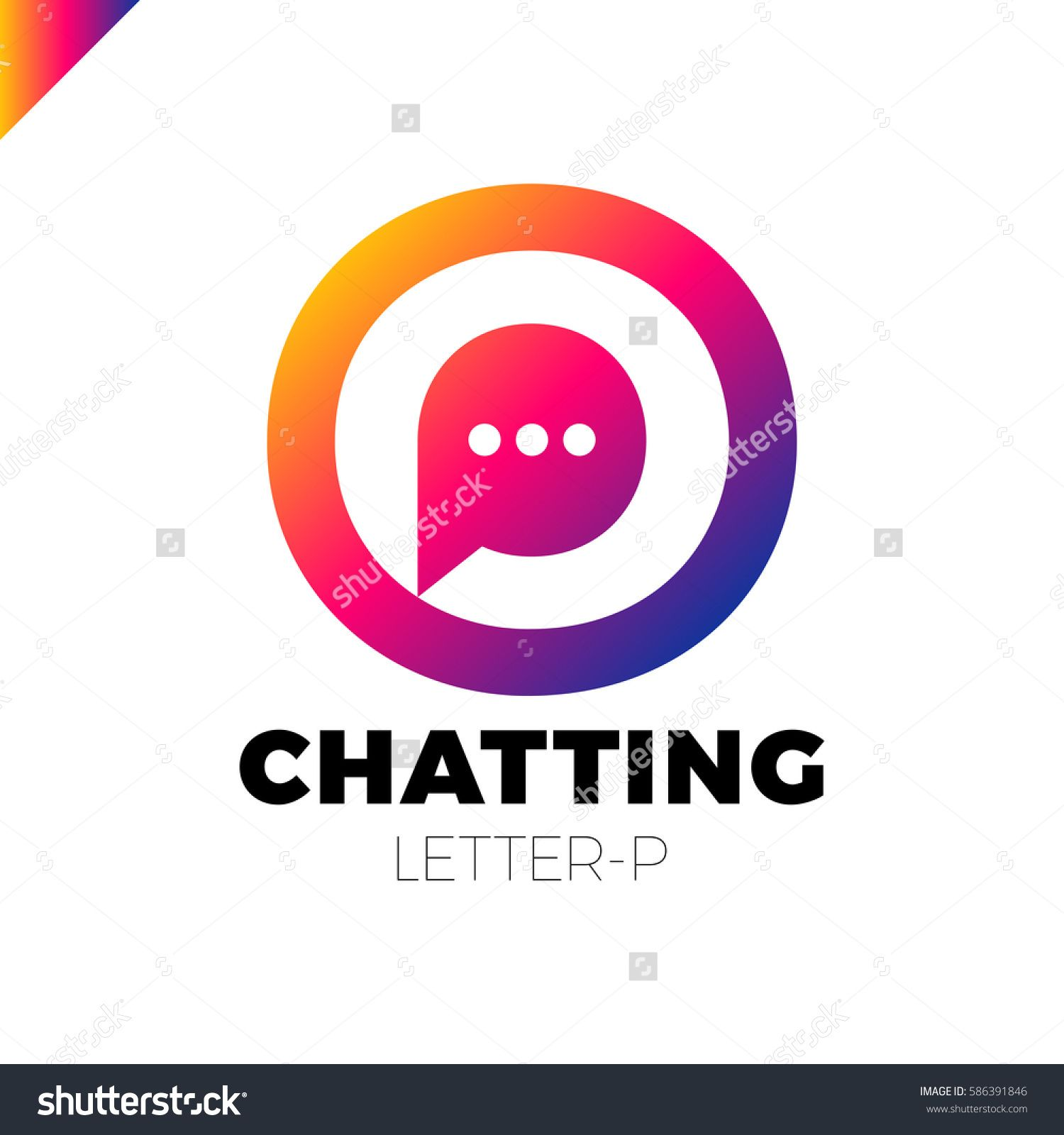 1500x1600 O And P Letter Logo, Speech Bubble Negative Space Volume Vector