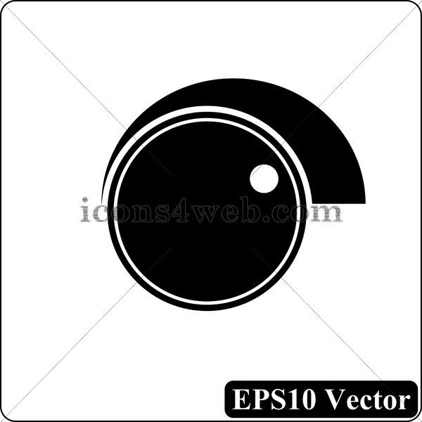 600x600 Volume Control Black Icon. Eps10 Vector.