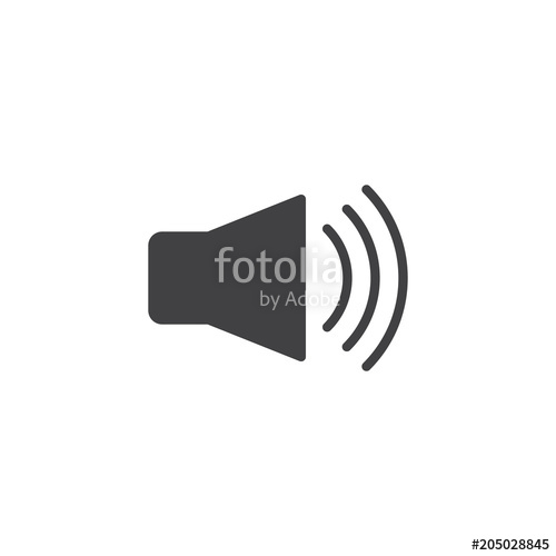 500x500 Volume Up Vector Icon. Filled Flat Sign For Mobile Concept And Web