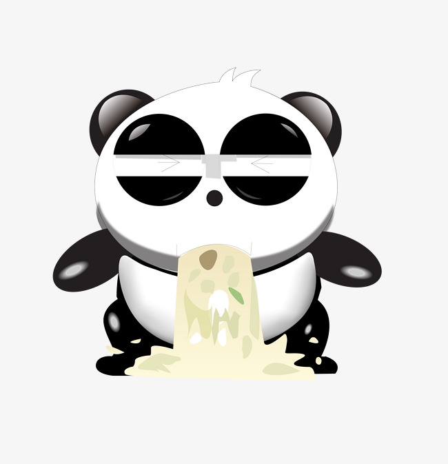 650x673 Vomit Panda, Panda, Vector, Hand Png And Vector For Free Download