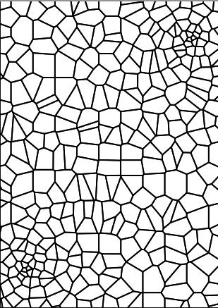 309x437 Embroidered Giraffe, Tree, Flowers, Voronoi New Textiles 2012