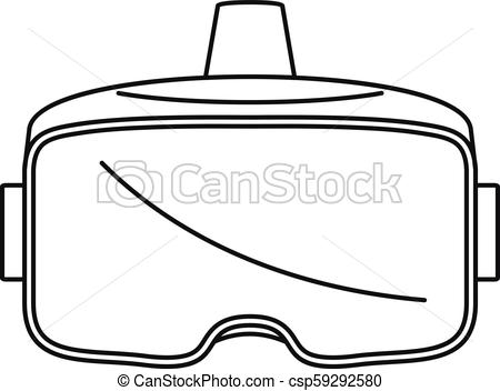450x352 Vr Glasses Headset Icon, Outline Style. Vr Glasses Headset Icon