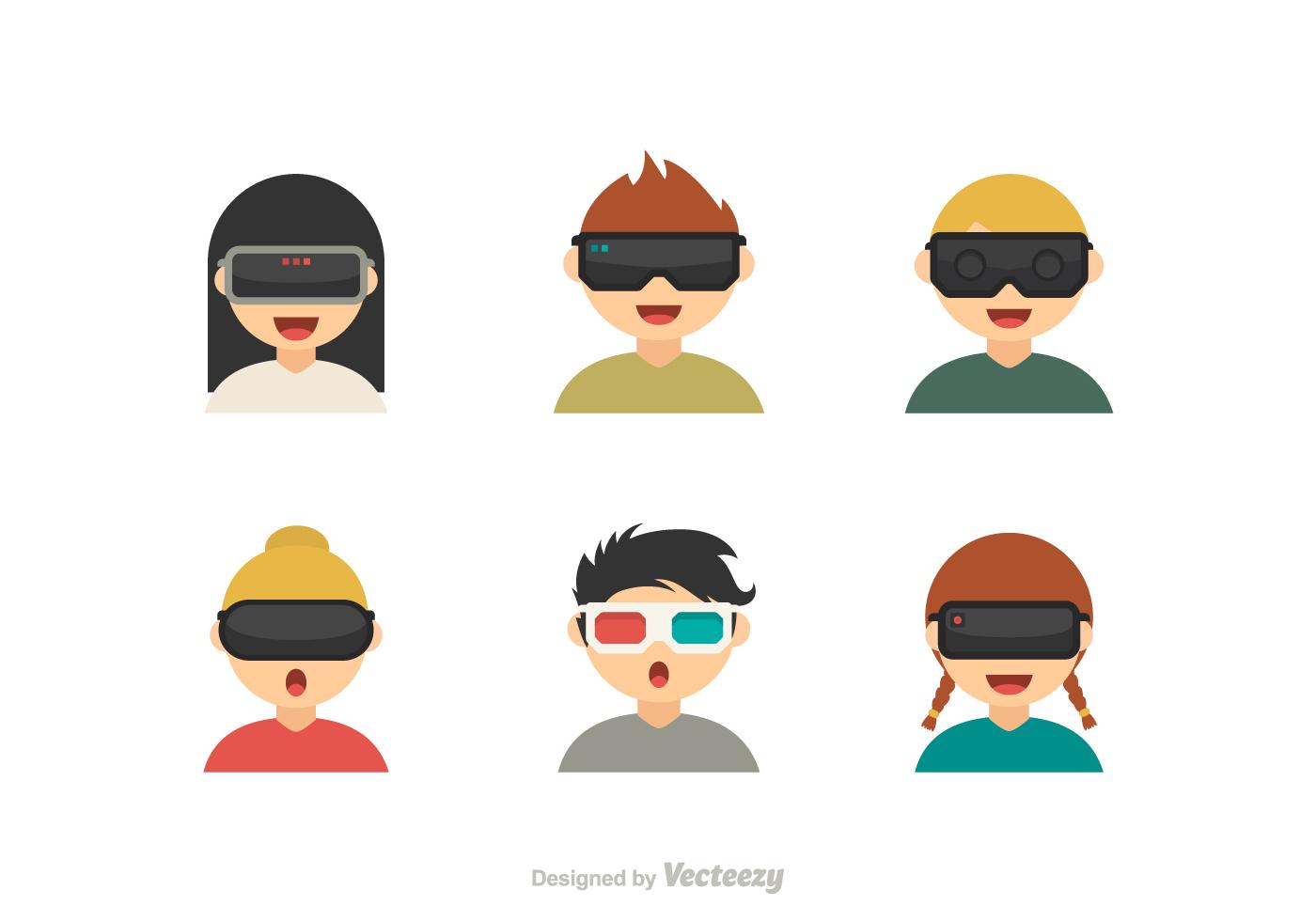1400x980 Virtual Reality Free Vector Art