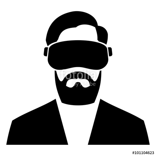 500x500 Virtual Reality Headset Icon. Vector Stock Image And Royalty Free
