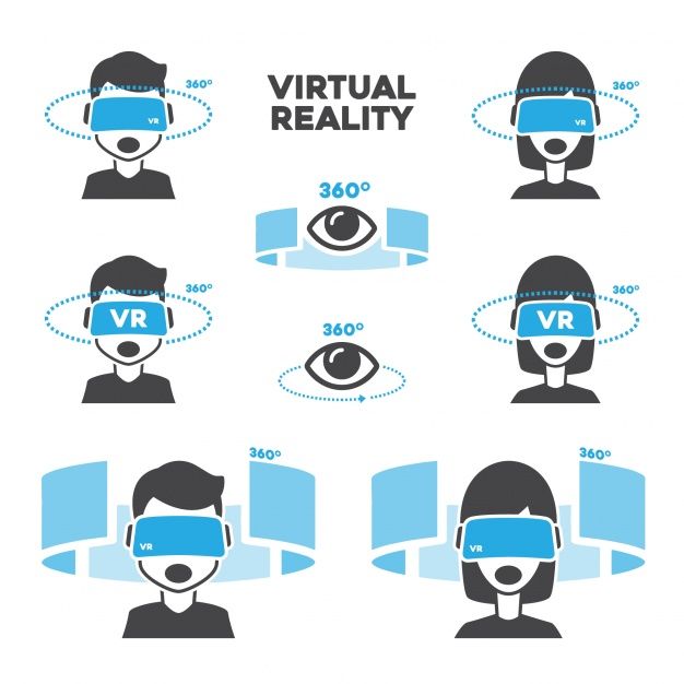 626x626 Virtual Reality Designs Vector Free Download