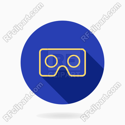 400x400 Fine Icon With Vr Logo In Blue Circle Vector Image Vector