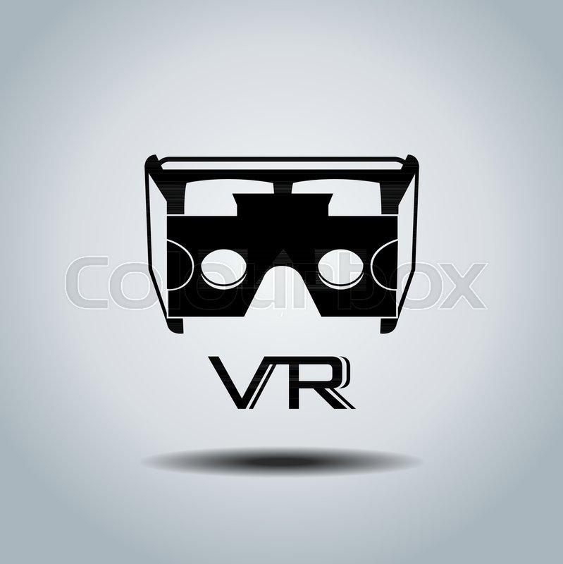 799x800 Virtual Reality Headset Icon, Flat Design, Vector, Icon, Design