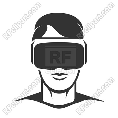 400x400 Virtual Reality Man. Vr Headset Or Wireless Goggles Glasses