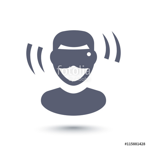 500x500 Virtual Reality Glasses Icon, Man In Vr Headset Isolated On White