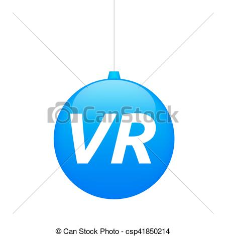 450x470 Isolated Christmas Ball With The Virtual Reality Acronym Vr