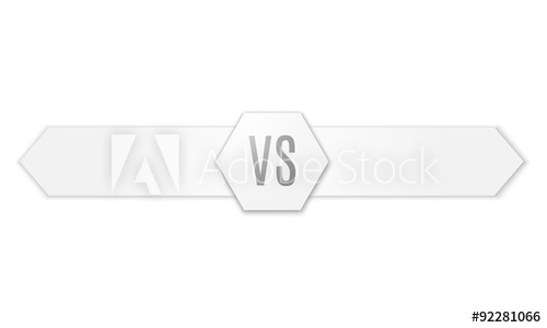 500x300 Versus Logo. Vs Vector Letters Illustration. Competition Icon