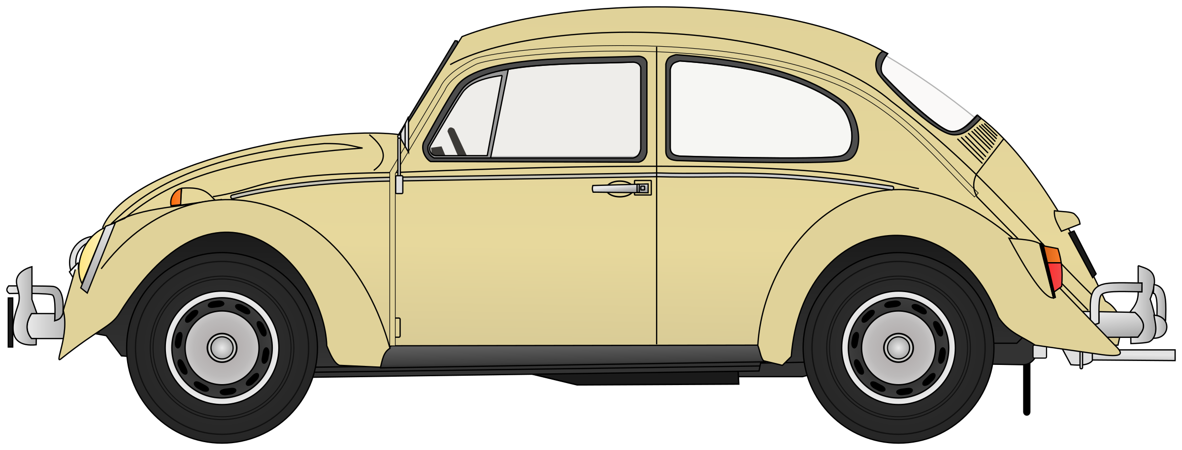 Vw Bug Vector At Getdrawingscom Free For Personal Use Vw Bug