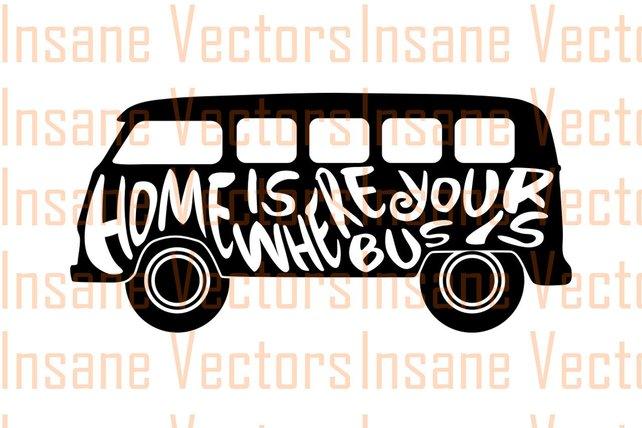 642x428 Vw Bus Vector Silhouette Clip Art Image Vw Van Vector Van Etsy