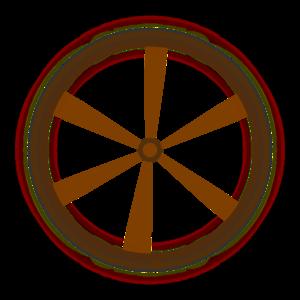 300x300 Wagon Wheel Clip Art
