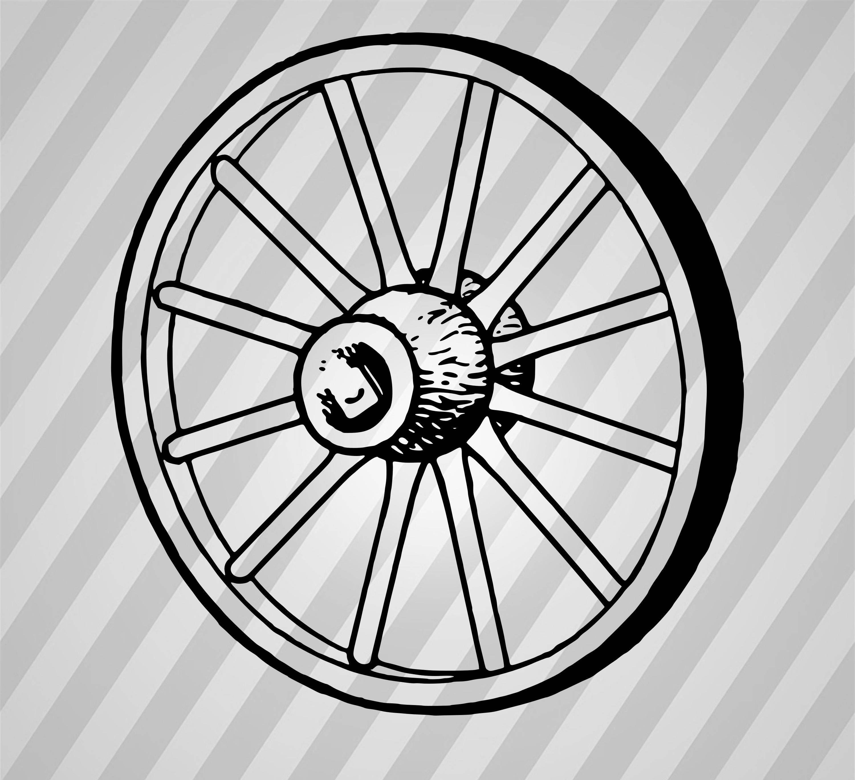3000x2737 Wagon Wheel Silhouette Wheel
