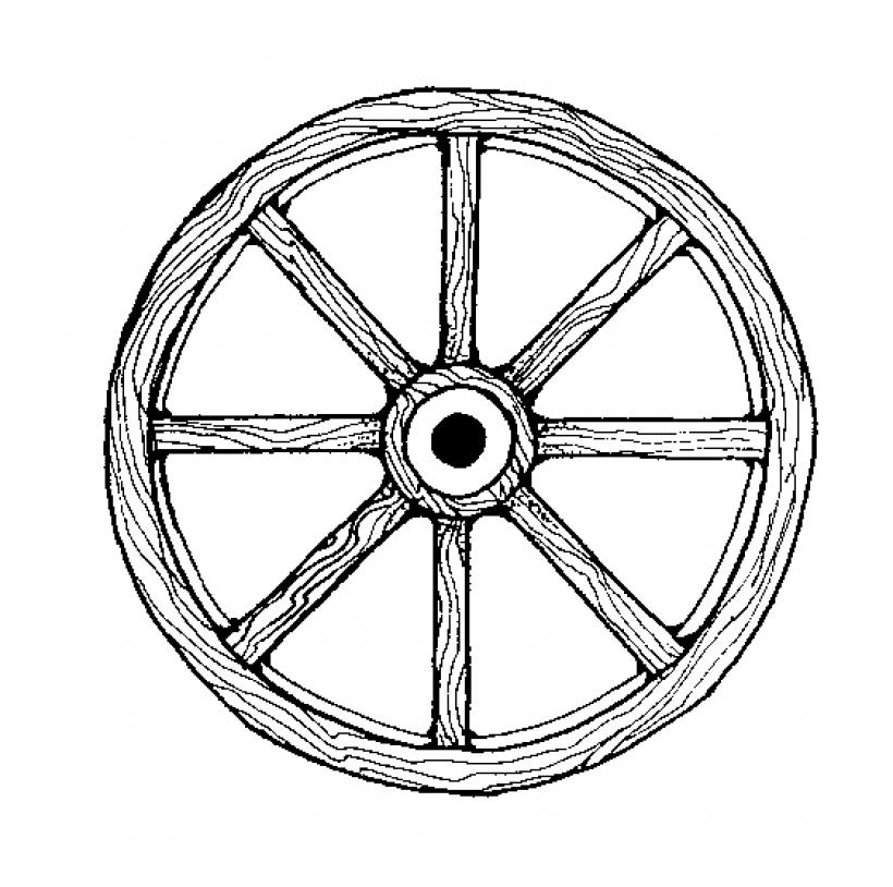 820x814 Wheel Clipart Waggon