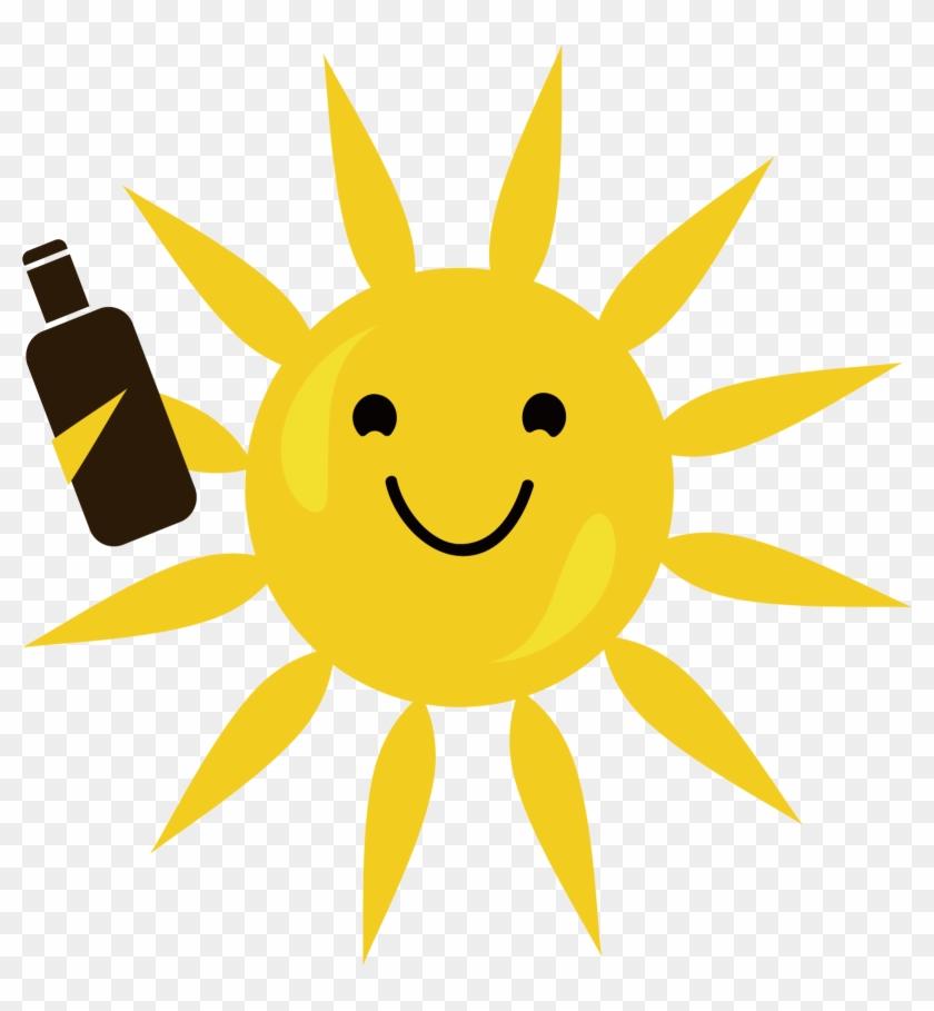 840x909 Drinking Sun Vector