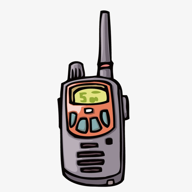 650x650 Vector Painted Walkie Talkie, Communication, Contact, Explanation