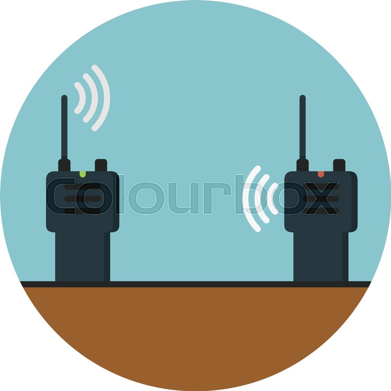 800x800 Walkie Talkie, Wireless Communication Stock Vector Colourbox