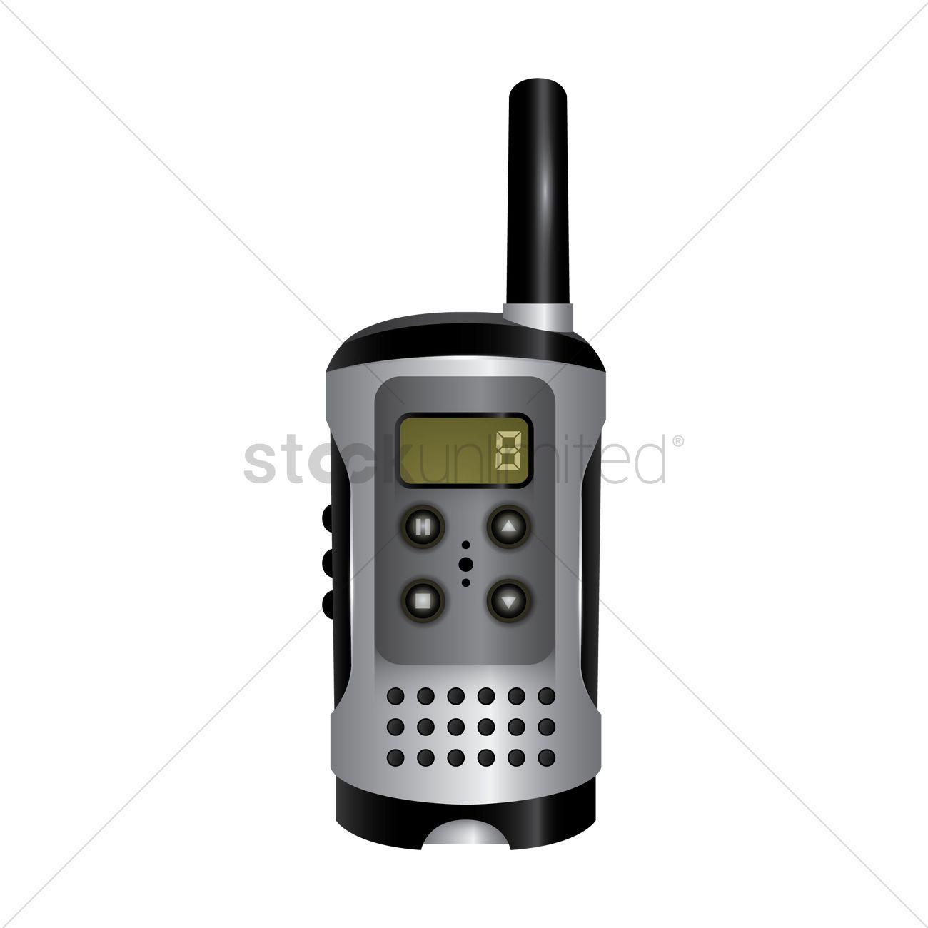 1300x1300 Walkie Talkie Vector Image