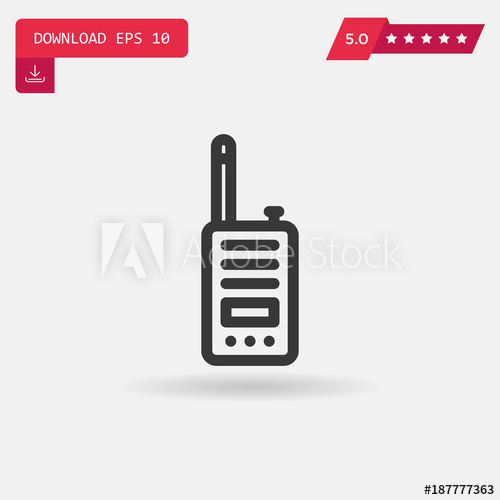 500x500 Walkie Talkie Vector Icon