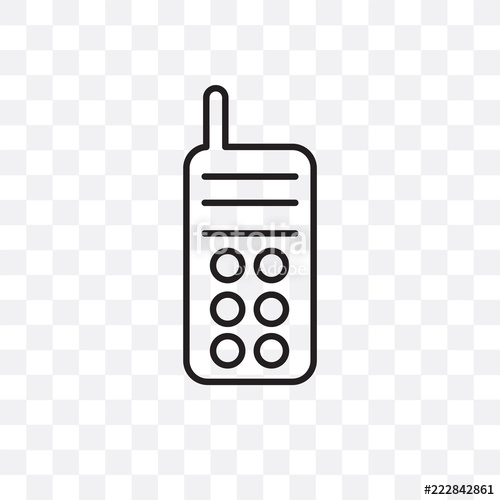 500x500 Walkie Talkie Vector Icon Isolated On Transparent Background