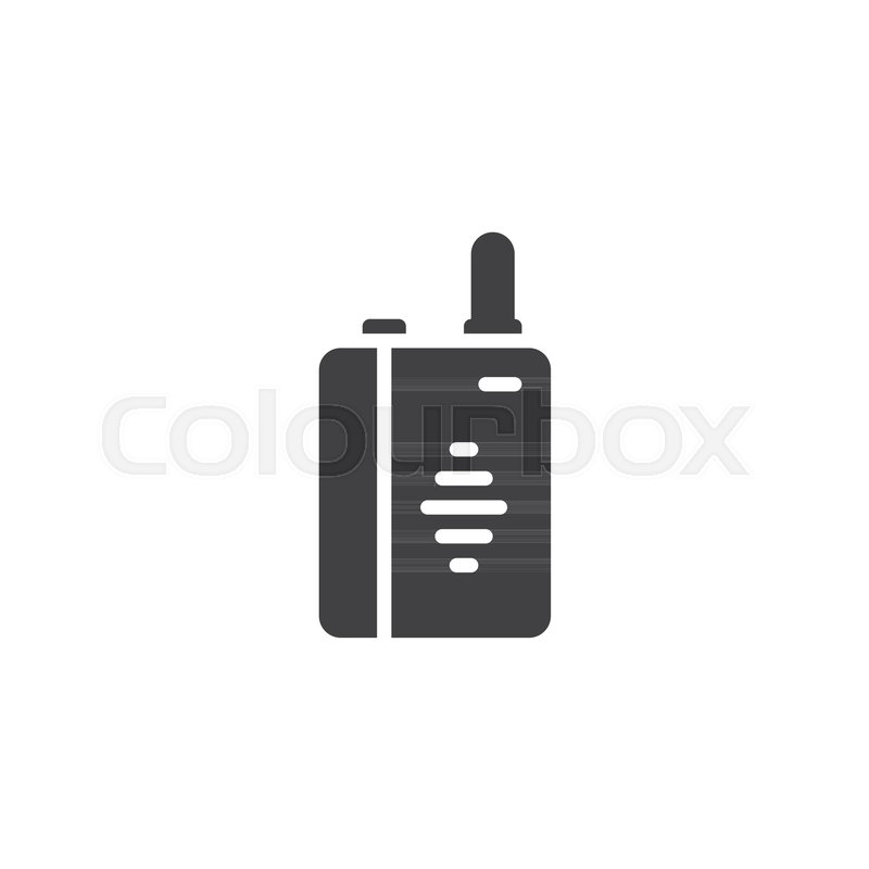 800x800 Walkie Talkie Vector Icon. Filled Flat Sign For Mobile Concept And