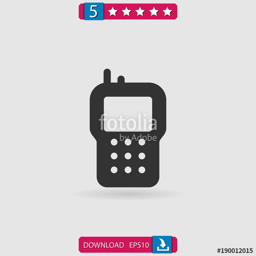 500x500 Walkie Talkie Vector Icon Stock Image And Royalty Free Vector