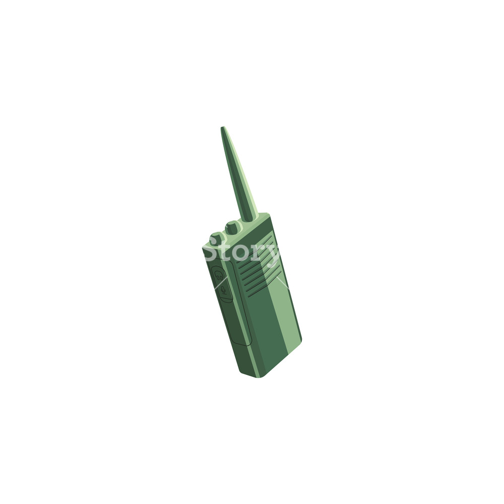 1000x1000 Color Vector Image. Police Walkie Talkie Royalty Free Stock Image