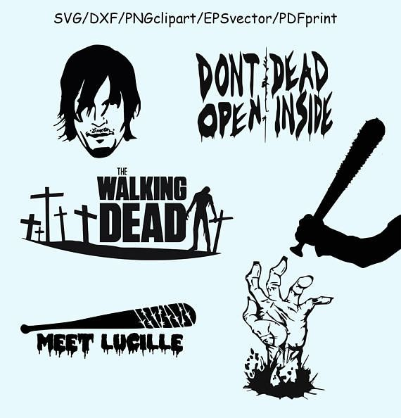 570x594 Walking Dead Svg Dxf Clipart Vector Walking Dead Logo Lucille