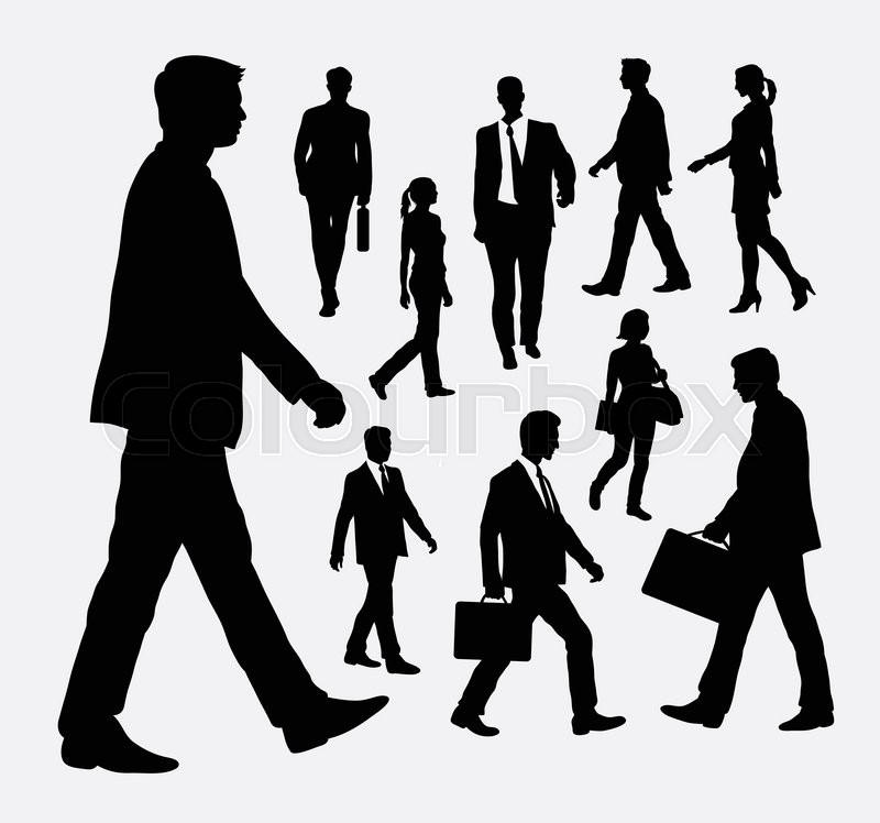 800x748 People Walking Male And Female Silhouettes. Good Use For Symbol