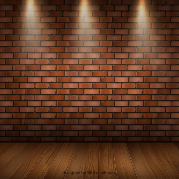 626x626 Room Interior With Parquet And Brick Wall Vector Free Download