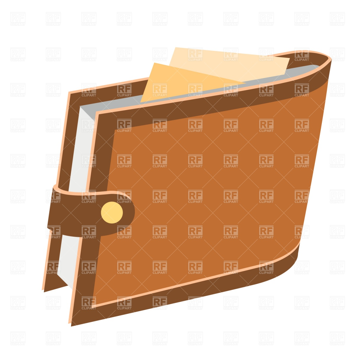 1200x1200 Leather Wallet Vector Image Vector Artwork Of Business, Finance