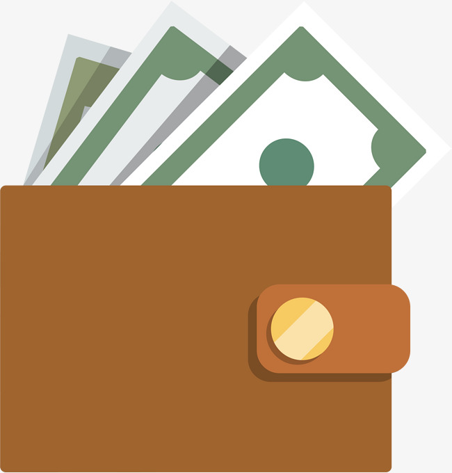 650x680 Vector Brown Flattened Wallet, Vector, Brown Wallet, Flat Png And