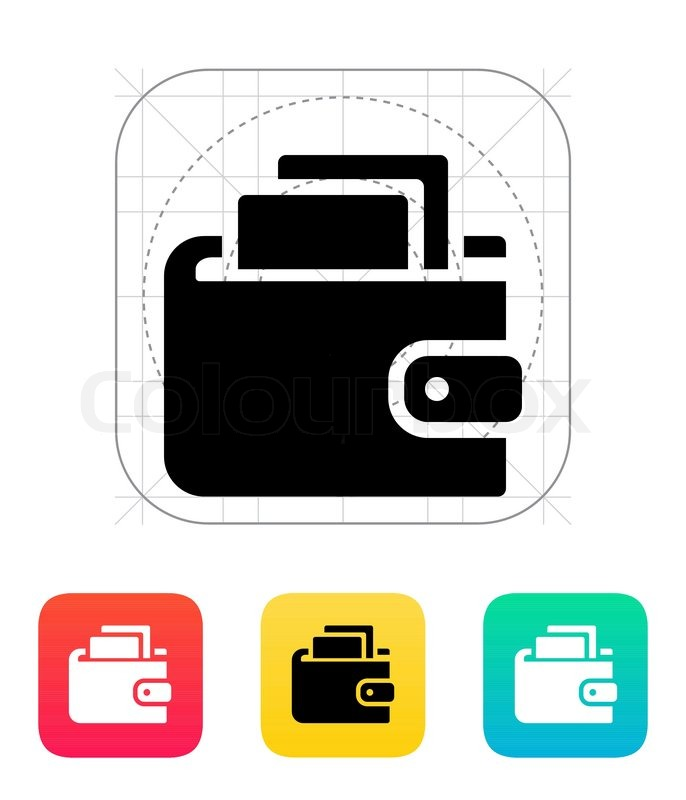 686x800 Wallet With Cash Icon On White Background. Vector Illustration