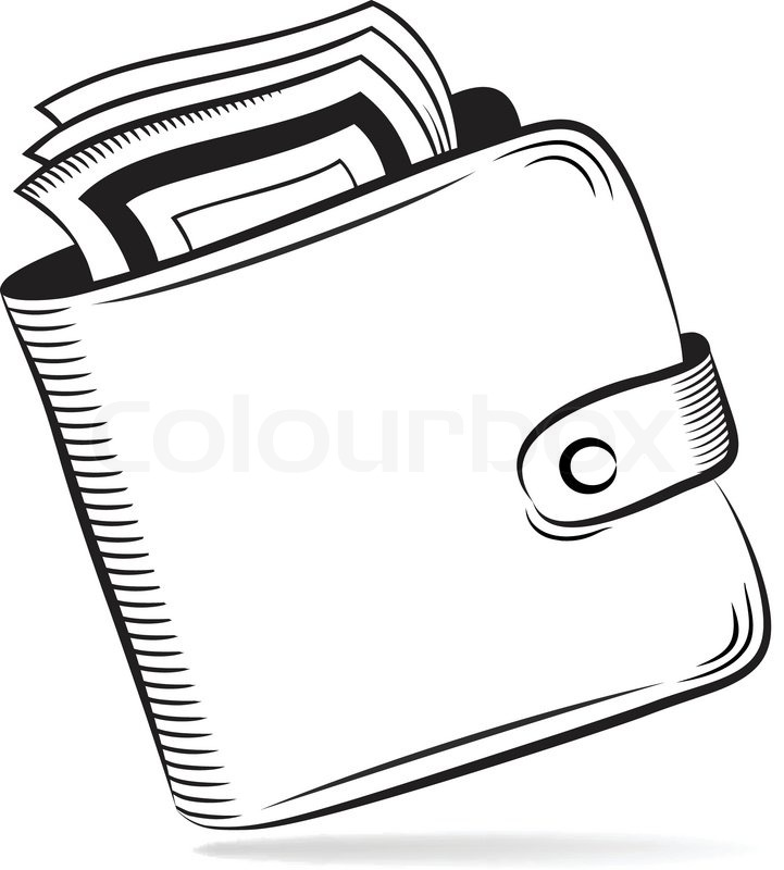 721x800 Wallet With Dollars Vector Icon Stock Vector Colourbox