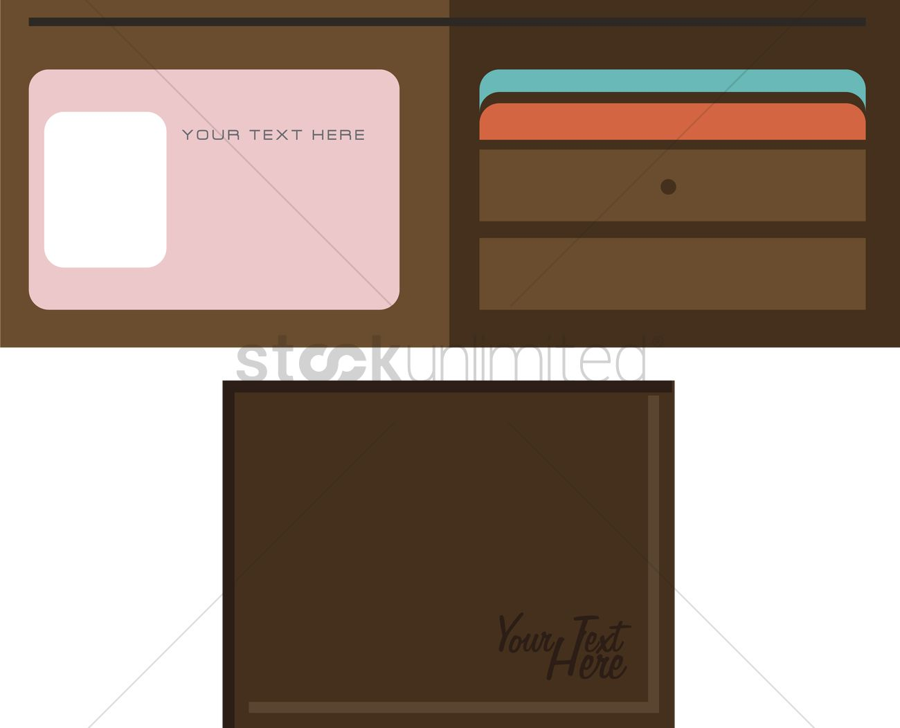 1300x1052 Free Vector Of Leather Wallet Vector Image